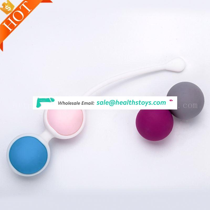 Female Smart Duotone Ben Wa Ball Weighted Female Toy Smart Ball Sex Toys For Girl Women