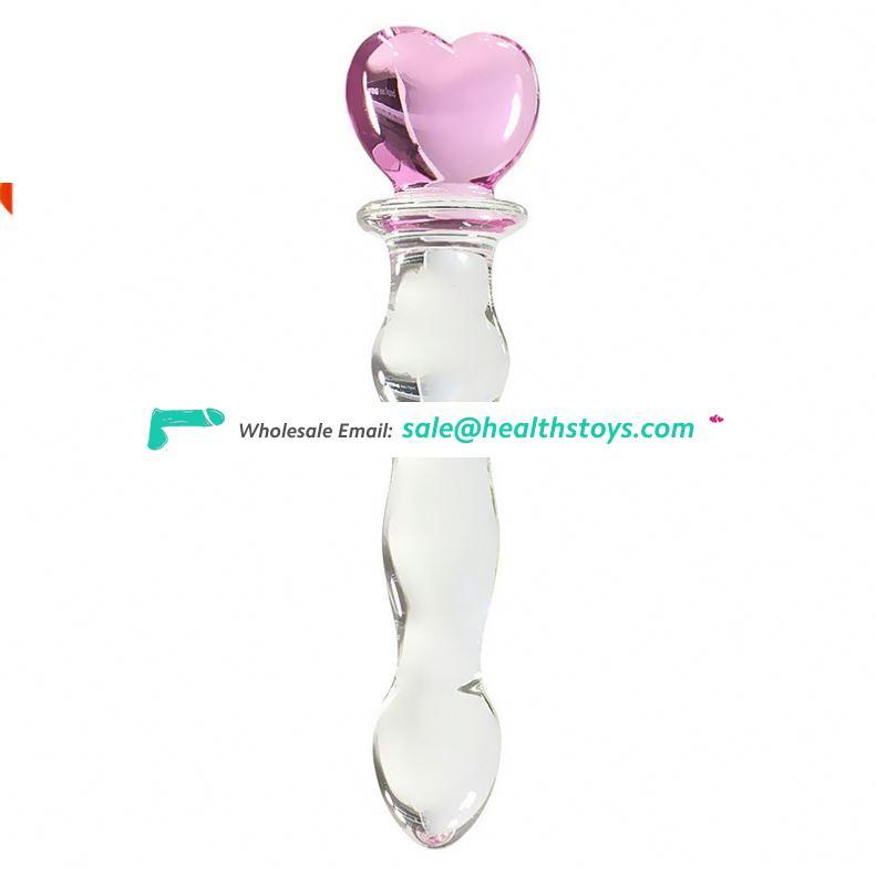 High sex tools Class Blown sex products giant Adult Female Handmade Blown Vibrating Glass Dildo