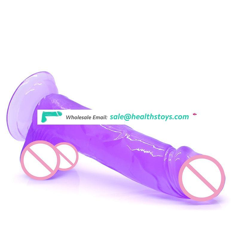 Small Realistic Crystal Dildo Anal Silicone Penis Artificial Waterproof Dick with Suction Cup Adult Sex Toys Dildos for Women