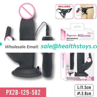 bunny massager with suction cup sex toy