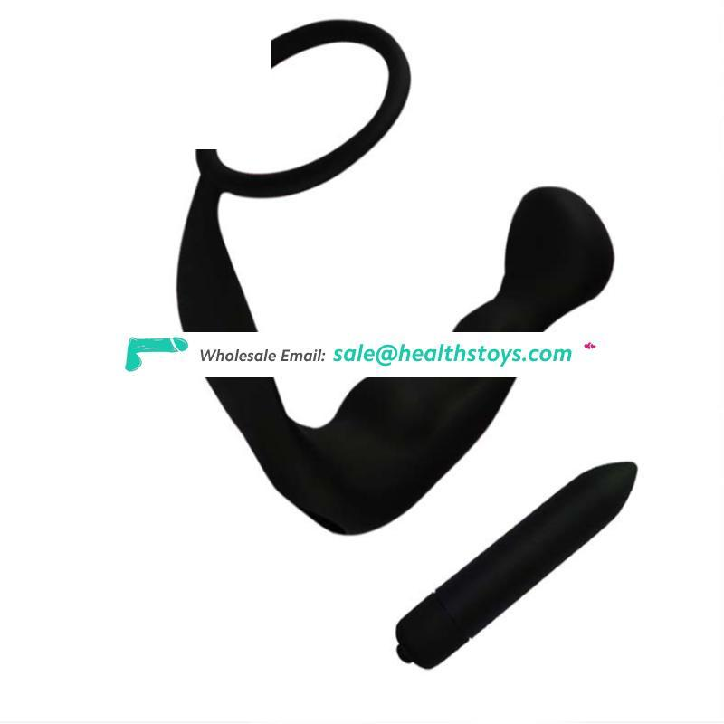 2017 Funny Adult electric shock silicone vibrating set anal plug