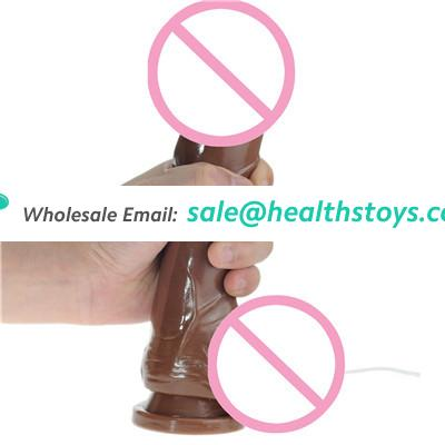 24cm Huge Dildos vibrator, Powerful 10 Funtion Super Whopper Vibrating Dong include tip, veined shaft , balls and Suction-cup