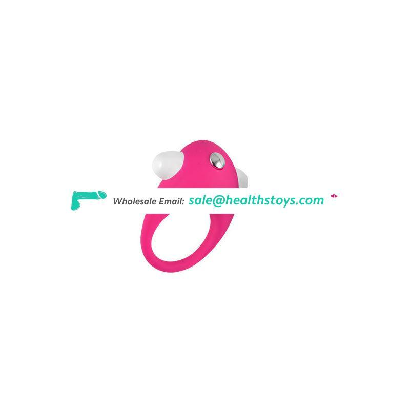 Adult Male Powerful Multi-Colored Penis Masturbation Silicone Cock Ring Vibrating