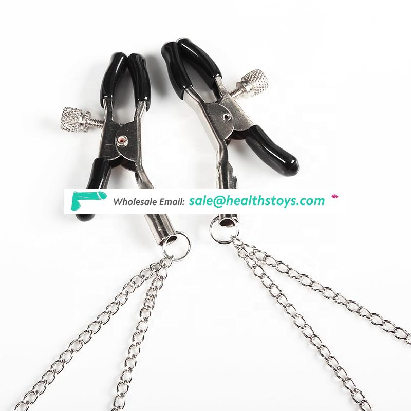 Sex new products nipple clamps metal colorful sex love game for female
