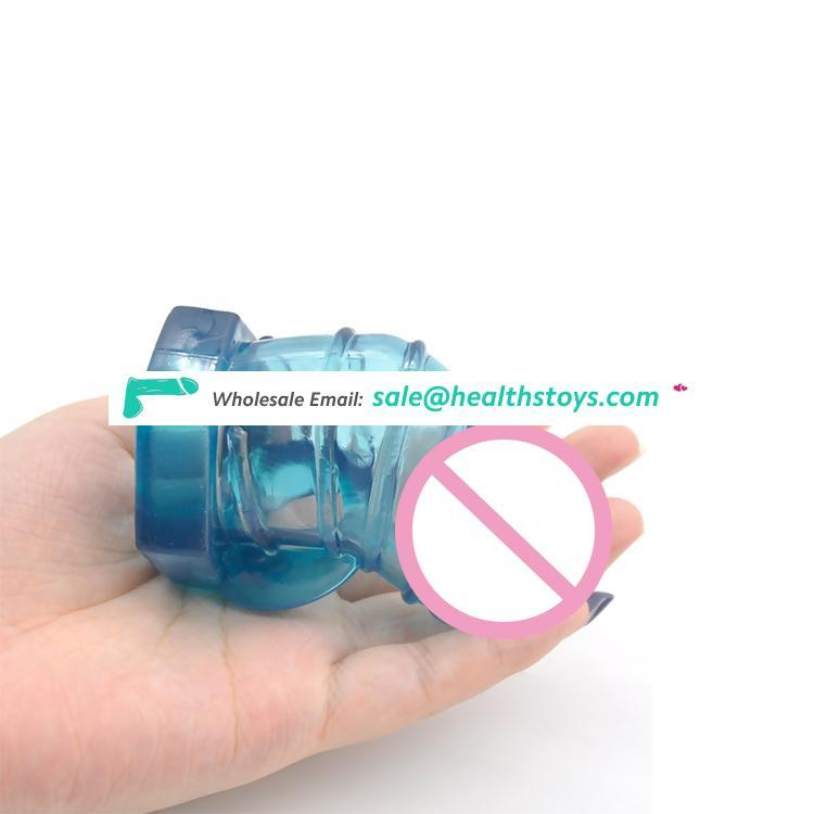 Soft TPR Male Chastity Cage Cock Ring