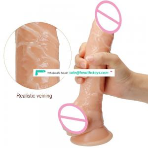 10 INCH Huge Long Lifelike Massage Wand Handsfree with Suction Cup for Female