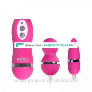 10 Speeds Waterproof Double Vibrating Silicone Massager Kegel vaginal balls Clitoris Stimulator or Anal Vibrator Sex Toys TD0076