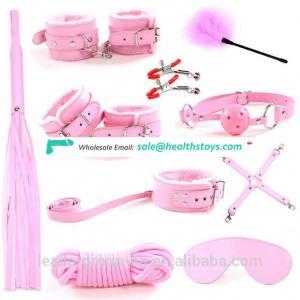 10pcs/set Ebay Hot Sell Sex Bondage Kit Rope Ball Gag Cuffs Whip Collar Blindfold Adult Sexy Toy -XN0072