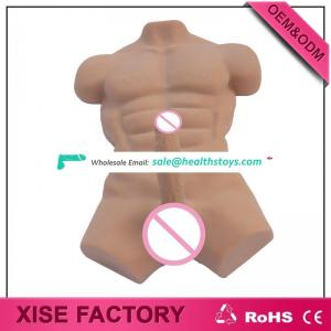 2017 hot sale sex doll real touching big cock man half body huge penis male sex doll for gays for women