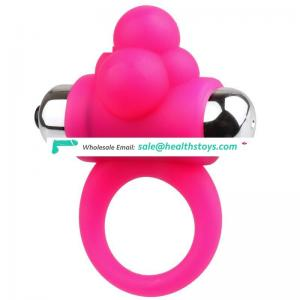 4 function Silicone Vibrating ring for couple