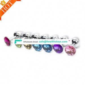 Adult Toy Wholesale 1pcs or 3pcs 1set Female Metal Bankyard Anal Plug