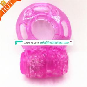 Amazo Popular Cheap Silicon Expander Sex Toy Vibrating Penis Cock Ring Silicone