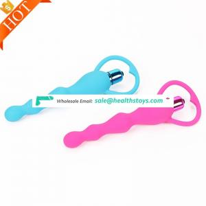 Amazon Trending Sex Toys Vibrating Prostate Massager Silicone Anal Plug Beads Bead With Curvy Design Pull Ring