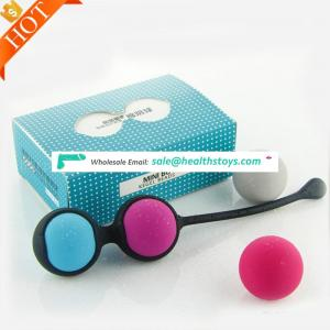 Amazon selling manufacturer cheap 4pcs 2pcs Silicone ben wa Jiggle koro Kegel ball