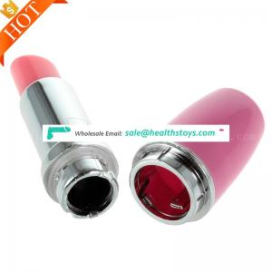 Artificial Medical Silicone Sex Toy Pussy Lipstick Magic Wand Massager Vibrator