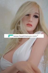 Blond Hair Big Breast Europe Sexy Women Lifelike Real Silicone Love Doll Heating Full Body Optional