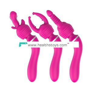 Convertible head AV vibrator for both men and women g-spot backyard massager