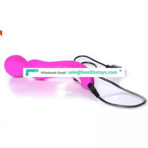 Double Usage Vibration Female Clitoris Dido Handheld Extended Wand Rotating 2 Head Body Massage Vibrator