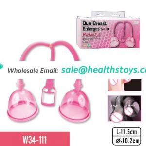 Dual breast enlarger with dual cups for female