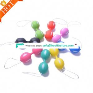 Exerciser Vaginal Duo-tone Massage Silicone Ben Wa Balls Video Chat Vibrator Shemale Massager Sex Toy Kegel Ball