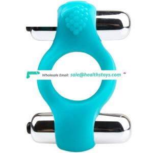 Exotic Sex Toys Silicone Two Vibrators Cock Ring Penis Ring For Adult Joy