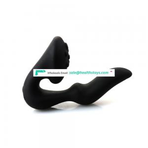 Factory wholesale full silicone anal bullet vibrator plug butt adult product