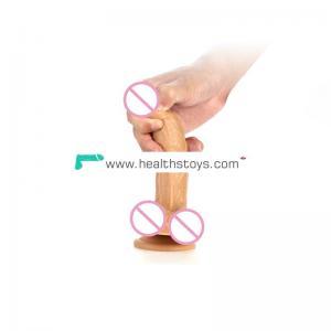 Foreskin silicone dildo masturbator realistic sex toy huge suction cup dildo