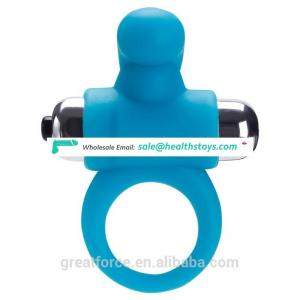 Fully waterproof silicone cock ring penis enlargement ring for man