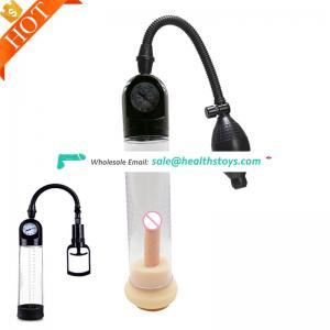 Good price Wholesale Penis pump hand job enlargement air pump machine with Pressure gauge