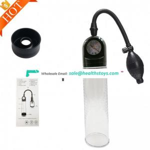 Handsome up with attractive function enlargement With Pressure Gage Penis Hand Vacuum Pump Gauge