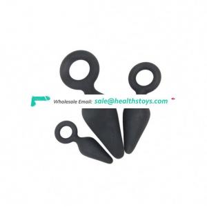 High Quality 3Pcs/Set 3 Size Anal Massage Soft Silicone Plug