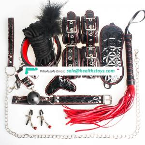 High Quality Flirting Whip Mask And Handcuffs Bondage 10 PCS/set BDSM Adult Toy
