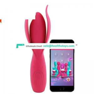 High Quality Phone Music Mobile APP control Rechargeable Silicone G Spot Clit Vibrator For Female Women