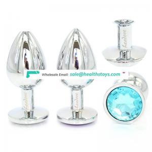 Hot! OEM Customized LOGO Metal Anal Plug Stimulator Jewelry Butt Plug Anal Dildo Adult Sex Toys for Women Men,Medium size