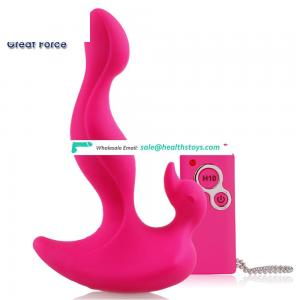 Hot Sale Waterproof Silicone Dart-shaped Expand Anal Butt Plugs