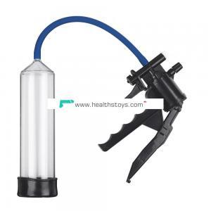 Hot Selling Plastic Pistol Pump with QR Valve Middle Vacuum Penis Enlargement Pump for Men