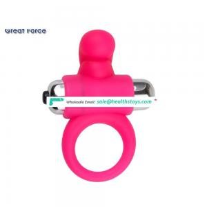 Hot sell fashion silicone vibrator powerful cock ring sex toy for men