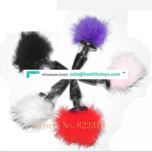 Hot selling Fox Tail Silicone Anal Butt Plug for Women /Men
