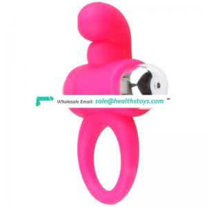 Hot selling silicone penis cock ring vibrating ring and comdom