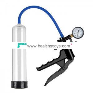 Large Plastic Pistol Pump with Gauge & QR Valve Vacuum Penis Enhancement Pump Device for Male