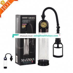 Long Enlargement Develop Vaccum Pro Extender handsome up Hand Vacuum Antomatic Air Pump Storage Bags With Pressure Gauge