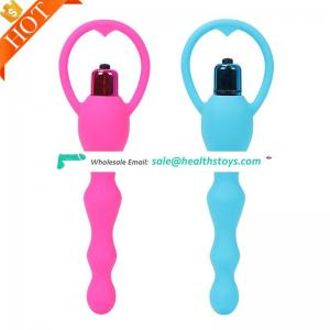 Medical Adult Toys Electric Shock Vibrating Beads Anal Trainer Plug