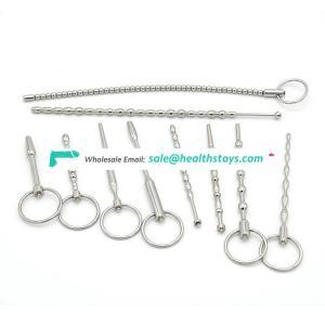 Metal urethra sex toys urethra stimulation rod urethral dilation sex toy for men