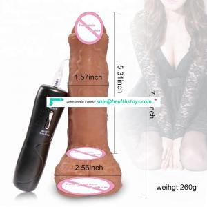 Most popular adult sex toy multi function vibrating rotating dildo for women masturbation