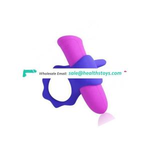 Motor Rechargeable Waterproof Silicone Penis Cook Ring Male Toys