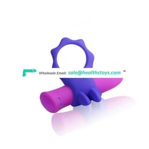 Motor Wearable Silicone Bullet Cock Finger Ring Sex Toy
