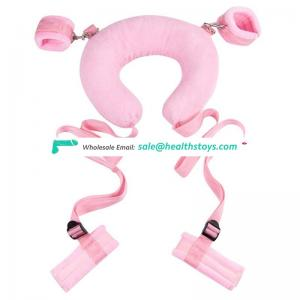 Neck Pillow Sex Toys Fetish Easy Open Leg Slave SM Game Bondage Kit Sexy Bondage Roleplay Handcuff Anklecuff for Couples