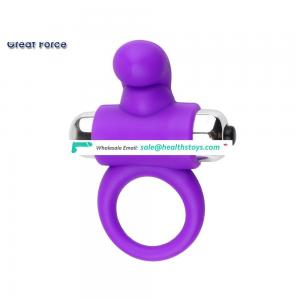 New design Fashion silicone vibrator powerful cock ring sex toy for men