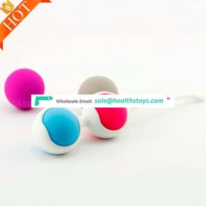 New silicone Vaginal Tight Exercise Vibrating Eggs Balls Smart Love Ball 100% Silicone Kegel