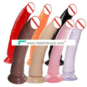 OEM real skin different color realistic pvc dildo artificial penis sex toy for women